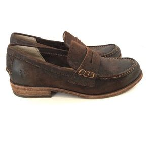 Other - FRYE brown suede loafers
